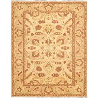 eCarpetGallery Chobi Brown/Yellow Wool Sumak Rug (6'9 x 8'6)