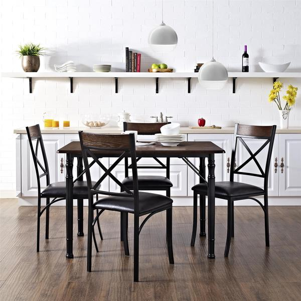 Kitchen Table And Chairs At Kmart: Shop Dorel Living 5 Piece Espresso/ Black Dining Set