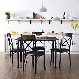 Dorel Living 5 piece Espresso/ Black Dining Set