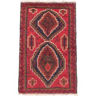 eCarpetGallery Kazak Oriental Red Wool Area Rug (3' x 4'8)