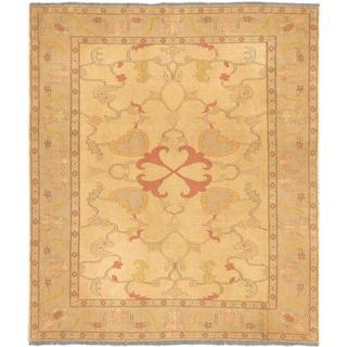eCarpetGallery Chobi Sumak Yellow Wool Rug (6'5 x 7'6)