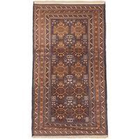 eCarpetGallery Royal Baluch Blue/Brown Wool Rug - 3'7 x 6'6