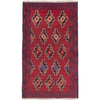 eCarpetGallery Bahor Red Wool Rug (2'8 x 4'6)