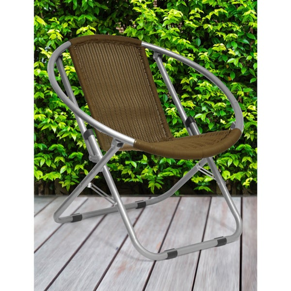Charmant Wicker Saucer Chair