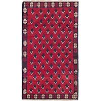 ecarpetgallery Bahor Red Wool Rug - 2'9 x 4'9