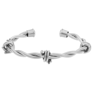 Stainless Steel Barbed Wire Men's Bangle