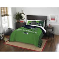 The Northwest Company NFL Seattle Seahawks Blue/Green Draft Full/Queen Comforter Set ( 3 Pieces)