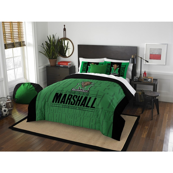 The Northwest Company COL Marshall Modern Take Black/Green Full/Queen 3-piece Comforter Set
