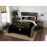 The Northwest Company NFL New Orleans Saints Draft Full/Queen 3-piece Comforter Set