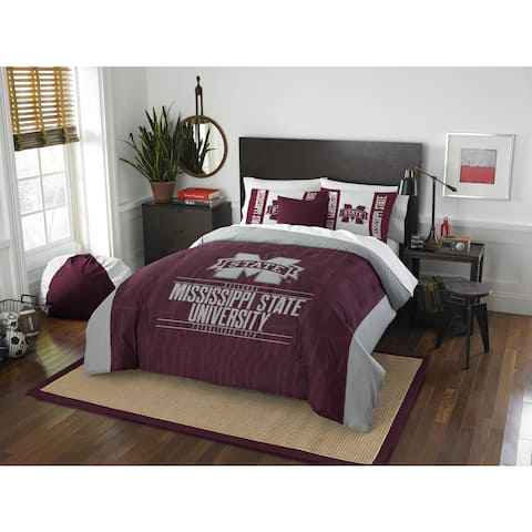 The Northwest Company COL Mississippi State Modern Take Full/ Queen 3-piece Comforter Set