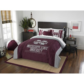 The Northwest Co COL 849 Mississippi State Modern Take Full/ Queen 3-piece Comforter Set