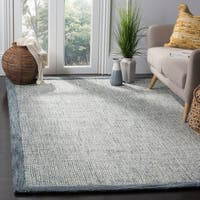 Safavieh Abstract Handmade Navy/ Ivory Rug - 4' x 6'
