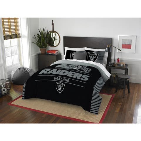 The Northwest Company NFL Oakland Raiders Draft Full/Queen 3-piece Comforter Set