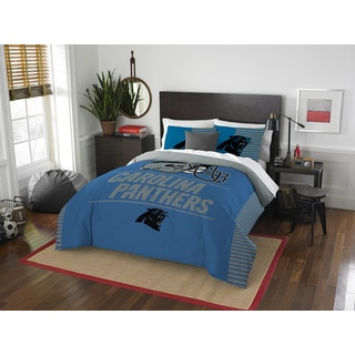 The Northwest Company NFL 849 Panthers Draft Full/Queen 3- piece Comforter Set
