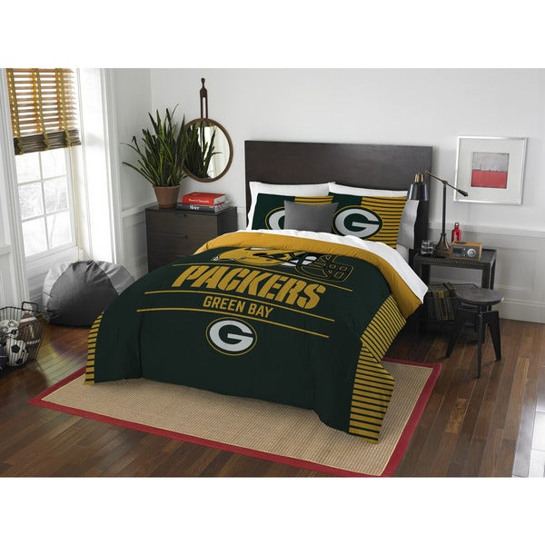 The Northwest Company NFL Green Bay Packers Draft Full/Queen 3 Piece  Comforter Set