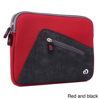 KroO 9-Inch Neoprene Tablet Sleeve with Front Zipper Pocket for Tablet and E-readers (Option: Red/Black)