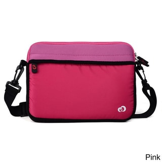 KroO 9-Inch Tablet Neoprene Messenger Bag Sleeve with Front and Rear Pockets, Includes Removeable Shoulder Straps