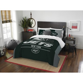 The Northwest Company NFL New York Jets Draft Full/Queen 3-piece Comforter Set