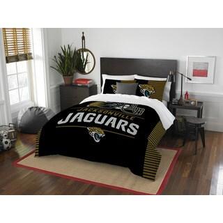 NFL 849 Jaguars Draft Full/Queen 3-piece Comforter Set