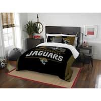 The Northwest Company NFL Jacksonville Jaguars Draft Full/Queen 3-piece Comforter Set