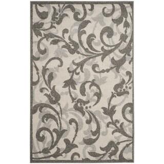 Safavieh Amherst Orpha Modern Indoor/ Outdoor Rug (3 x 5 - Ivory/Grey)