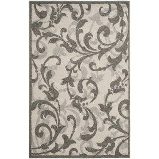 Safavieh Amherst Orpha Modern Indoor/ Outdoor Rug (4 x 6 - Ivory/Grey)