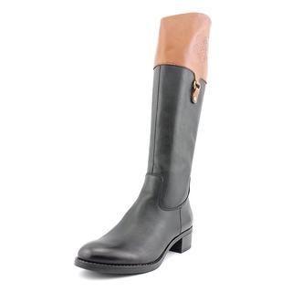Franco Sarto Women's Clarity Black and Brown Leather Boots