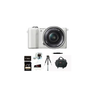 Sony Alpha a5000 20.1MP Mirrorless Digital Camera with 16-50mm Lens (White)