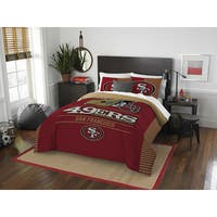 The Northwest Co NFL San Francisco 49ers Draft Full/Queen 3-piece Comforter Set