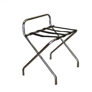 Katella Black Stainless Steel Luggage Rack