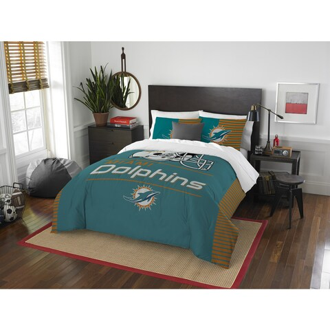 The Northwest Company NFL Dolphins Draft Blue and Orange Full/Queen 3-piece Comforter Set