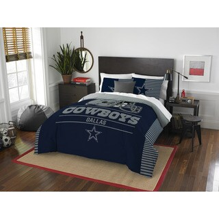 The Northwest Company NFL Dallas Cowboys Draft Blue/Grey Full/Queen Comforter Set (3 Pieces)
