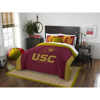 The Northwest Company USC Modern Take Red and Gold Polyester Full/Queen 3-piece Comforter Set