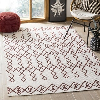 Safavieh Cedar Brook Contemporary Handmade Ivory/ Rust Jute Rug (3' x 5')