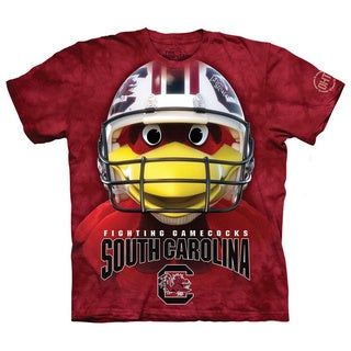 South Carolina Fighting Gamecocks Red Cotton Graphic Crewneck T-shirt