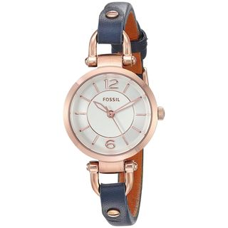 Fossil Women's ES4026 'Georgia Mini' Blue Leather Watch
