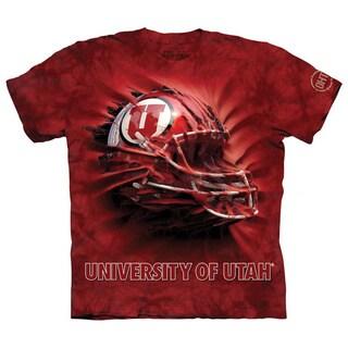 The Mountain Red Cotton Utes Helmet Breakthrough T-shirt