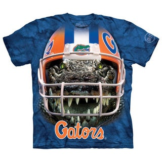 The Mountain Men's Blue Cotton Gators Warrior Mascot T-shirt