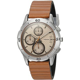 Fossil Women's ES4043 'Modern Pursuit' Chronograph Brown Silicone Watch