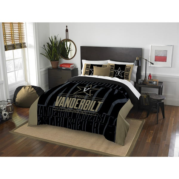 The Northwest Company Vanderbilt Modern Take Black and Gold Polyester Full/Queen 3-piece Comforter Set