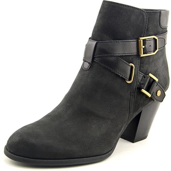 730ce33f150 Shop Franco Sarto Women's 'Delight' Black Leather Boots - Free ...