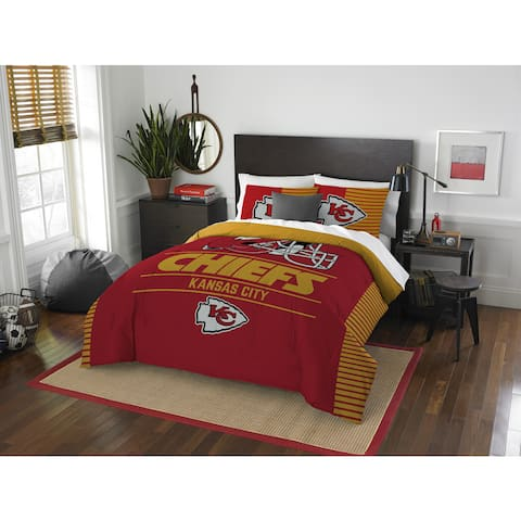 The Northwest Company NFL Kansas City Chiefs Draft Full/Queen 3-piece Comforter Set
