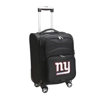 Denco New York Giants Black Nylon 20-inch Carry-on 8-wheel Spinner Suitcase