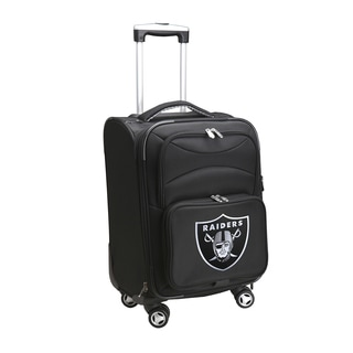 Denco Oakland Raiders 20-inch 8-wheel Carry On Spinner Suitcase