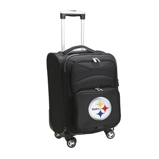Denco Pittsburgh Steelers Black Nylon 20-inch Carry-on 8-wheel Spinner Suitcase