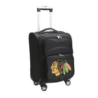 Denco Chicago Blackhawks Black Nylon 20-inch Carry-on 8-wheel Spinner Suitcase