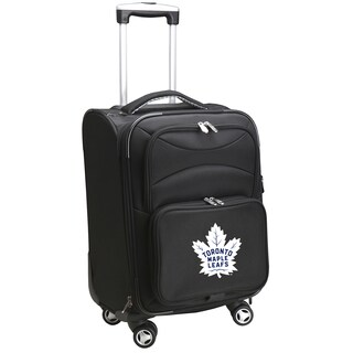 Denco Toronto Maple Leafs Black 20-inch Carry-on 8-wheel Spinner Suitcase
