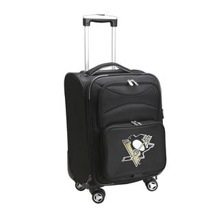 Denco Pittsburgh Penguins Black Nylon 20-inch Carry-on 8-wheel Spinner Suitcase