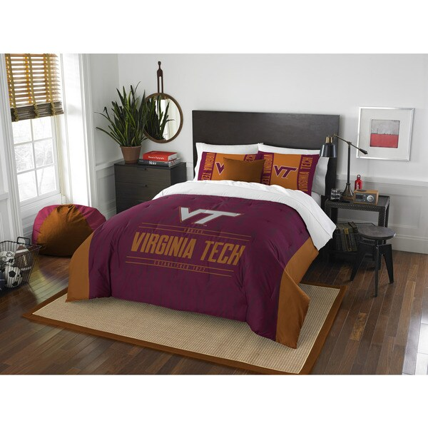 The Northwest Company Virginia Tech Modern Take Red and Orange Polyester Full/Queen 3-piece Comforter Set