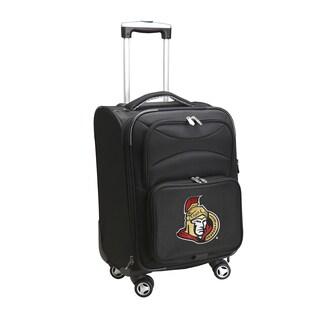 Denco Sports Ottawa Senators Black Nylon 20-inch Carry-on Spinner Suitcase